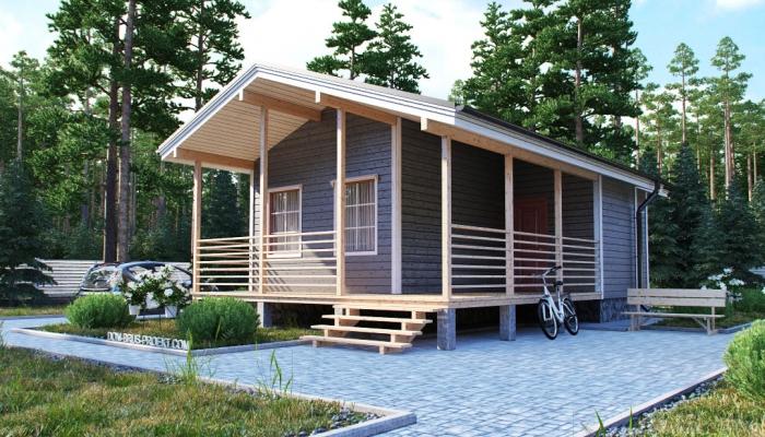 Компактный финский дом из бруса-2