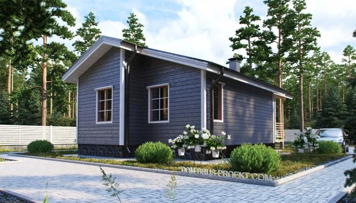Компактный финский дом из бруса-3