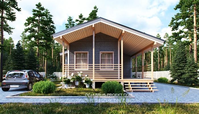 Компактный финский дом из бруса-5