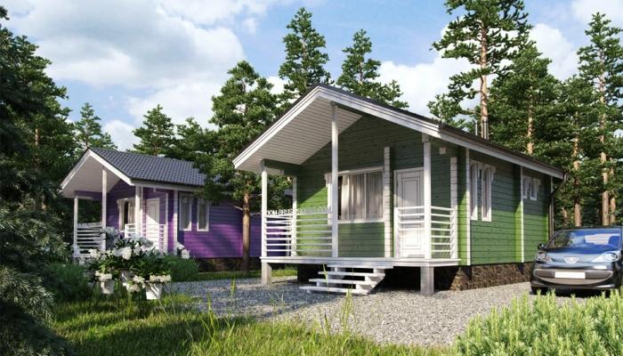 Маленький дачный дом из бруса-1