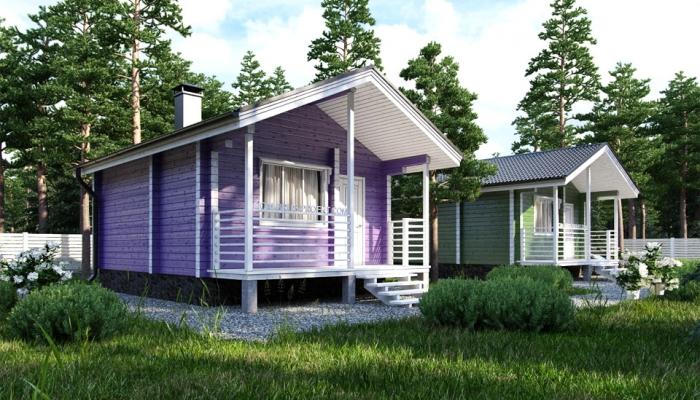 Маленький дачный дом из бруса-2