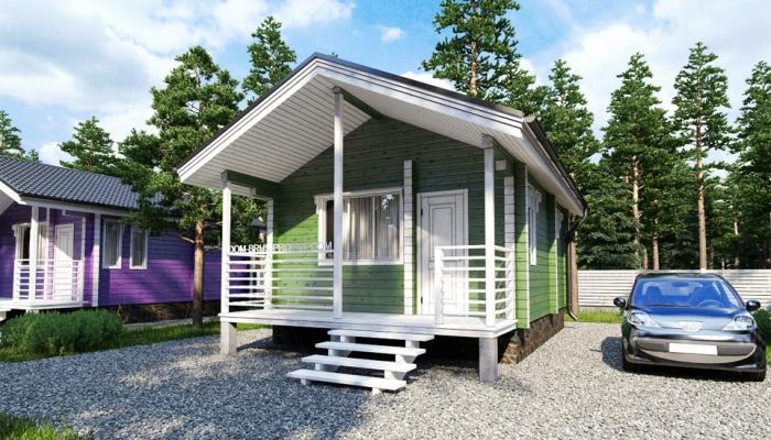 Маленький дачный дом из бруса-3