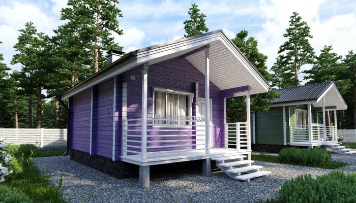 Маленький дачный дом из бруса-4
