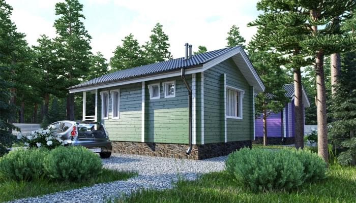 Маленький дачный дом из бруса-5