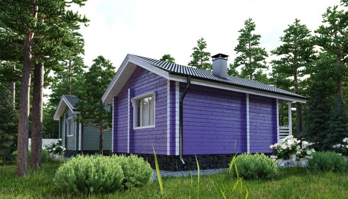 Маленький дачный дом из бруса-6