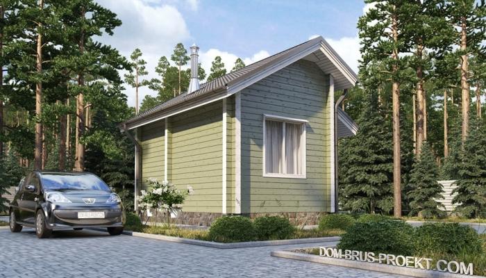 Небольшой дачный дом из бруса-1