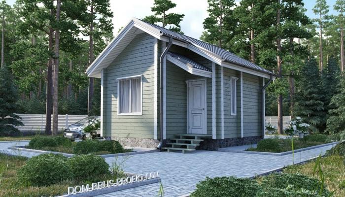Небольшой дачный дом из бруса-2