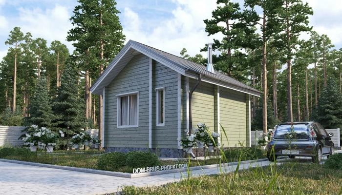 Небольшой дачный дом из бруса-3