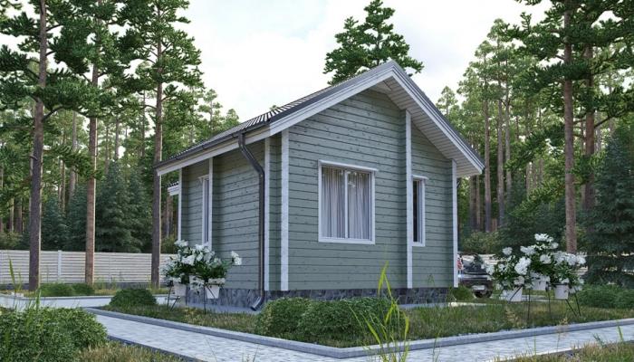 Небольшой дачный дом из бруса-4