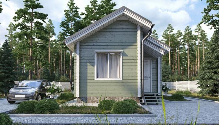 Небольшой дачный дом из бруса-5