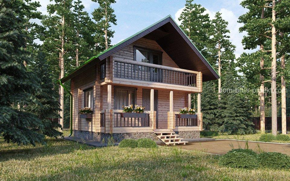 Таунхаус проект 122,4 м - Дом на две семьи с гаражом