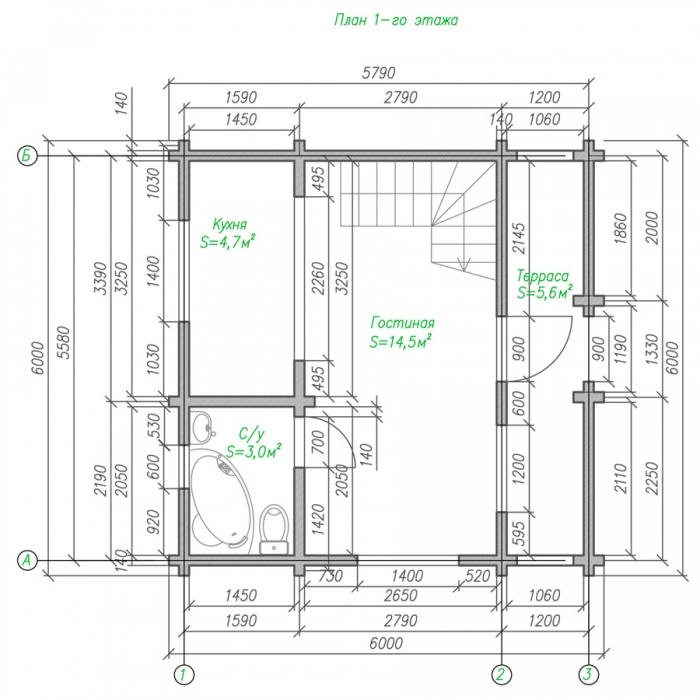 план проект небольшого дома фото