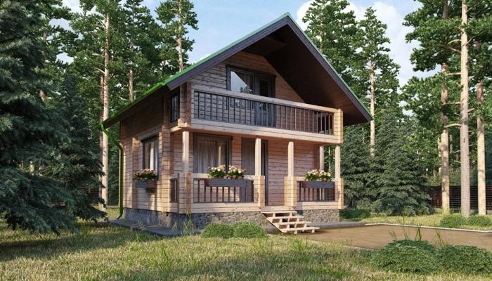 Проект небольшого дома с мансардой-1
