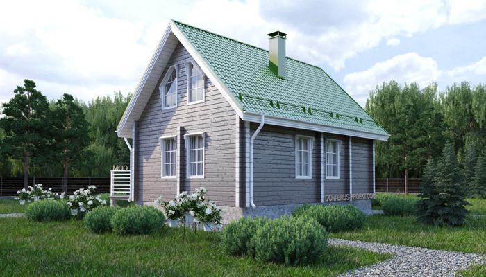 Проект бюджетного дома из бруса с мансардой-3