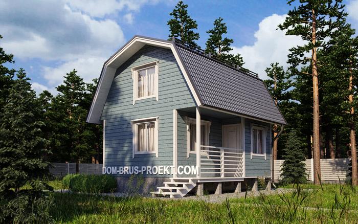 Дачный дом из бруса с мансардой 2