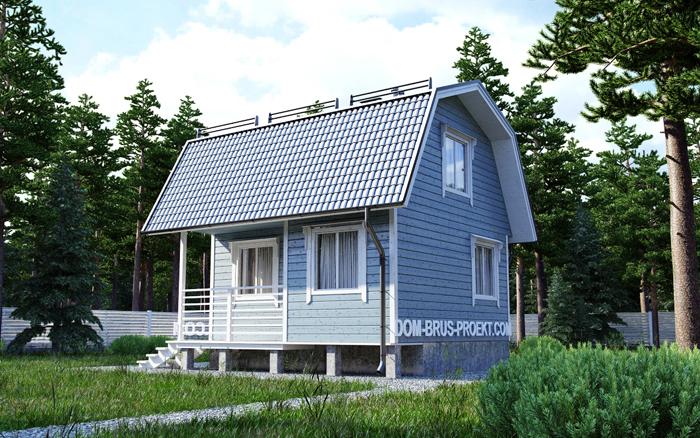 Дачный дом из бруса с мансардой 3