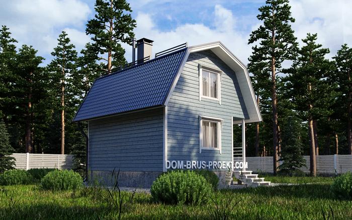 Дачный дом из бруса с мансардой 4