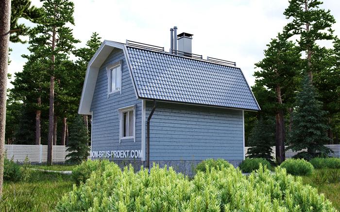 Дачный дом из бруса с мансардой 5