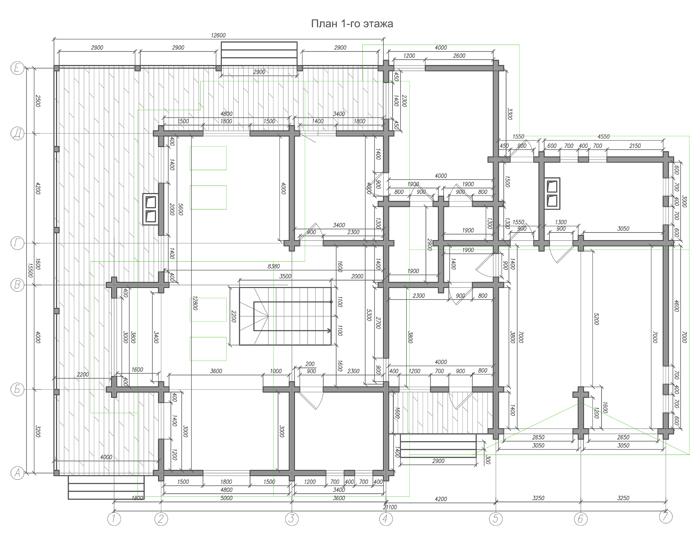 Двухэтажный коттедж из бруса