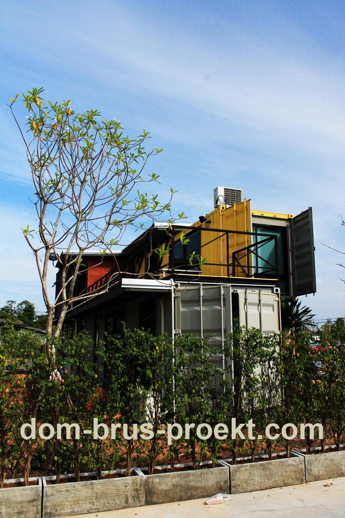 Кафе из морских контейнеров, дома из морских контейнеров
