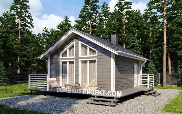 Проект дома из бруса 6 на 6