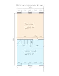 Планировка мансрадного этажа